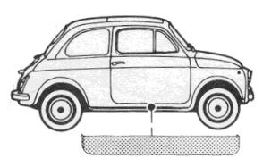 Tür-Reparaturblech rechts Fiat 500 F/L/R (500 N/D