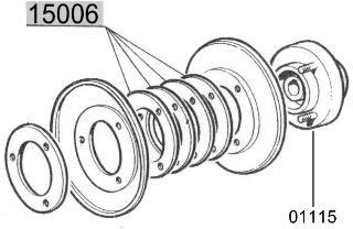 Distanzscheibe (Einstellscheibe) für Riemenscheibe Fiat