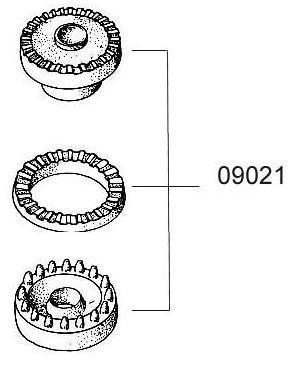 Gummilager-Satz f. Mot.-Aufhängung Fiat 500 R
