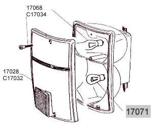 Glühlampe 12V/21W/5W für Rück-/Bremslicht (2-Faden) Fiat