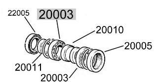 Rear wheel bearing, 52 x 26 x 15 mm Fiat 500/126/600