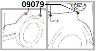 Gummitülle für Kabel/Seilzüge/Schläuche/Tachowelle Fiat