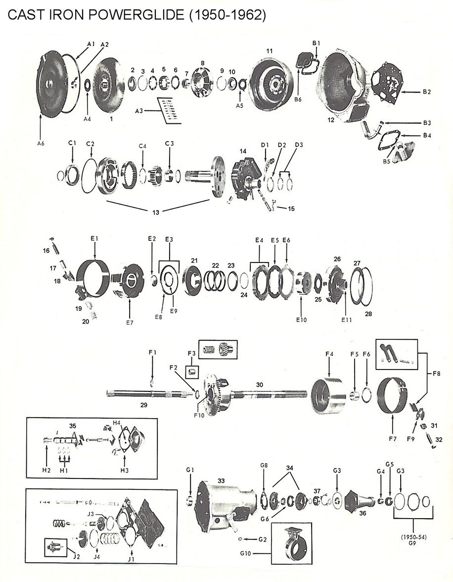 medium resolution of powerglide parts diagram wiring diagram compilation 1954 powerglide transmission diagram