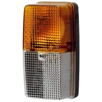 — 4552BE 003347001 — montage aan voorzijde, oranje knipperlicht en wit breedtelicht E1 53274 1 x 44712V5WS,  1 x 44712V21 —