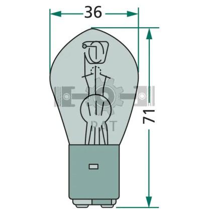 — 47712V35/35WS — koplamp BA 20 d —