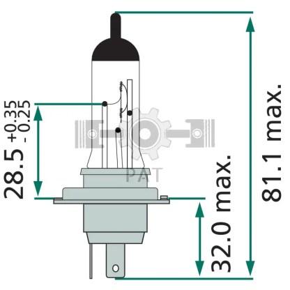 — 44713342MDC1 — koplampen P 43t-38 —