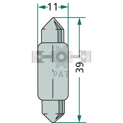 — 47712V10WS — achter- en kentekenverlichting SV 8,5 —