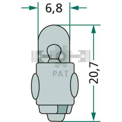— 47712V2WK7 — positie-, markerings-,  omtrek en binnenverlichting BA 7 s —