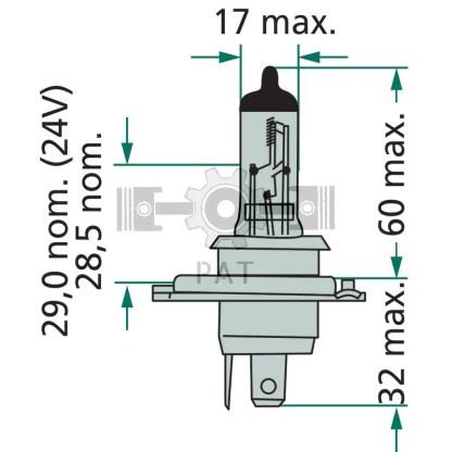 — 44712342LLECOC1 — koplamp P 43t - 38 —