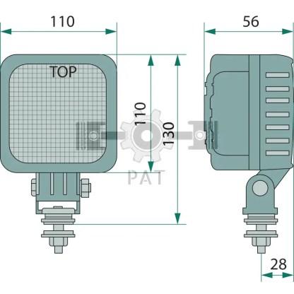 — 70799171 — staande montage met beugelbevestiging, voor verlichting van de nabije omgeving,  met 9 HighPower LED —