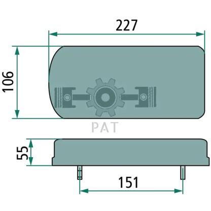 — 70799195 — 6-functie-LED-verlichting 12 volt, aanbouw links en rechts, achter-, rem-, knipper-, achteruitrij-, —