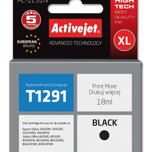 T1291 comp. ink cartridge black