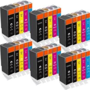 Inktcartridge / Alternatief spaarset 30 patronen Canon PGI-550 CLI551 | Canon Pixma IP7250/ IP8750/ MG5400/ MG5450/ MG5550/ MG5650/ MG6350/ MG6450/ MG