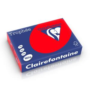 Clairefontaine Troph�e Intens A4 koraalrood 160 g 250 vel