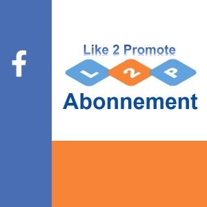 Abonnement Like-2-Promote Facebook