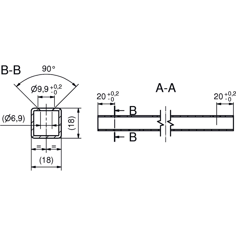 Smartcube Eckknoten Set Hangend 2 Fach Vertikal Edelstahl