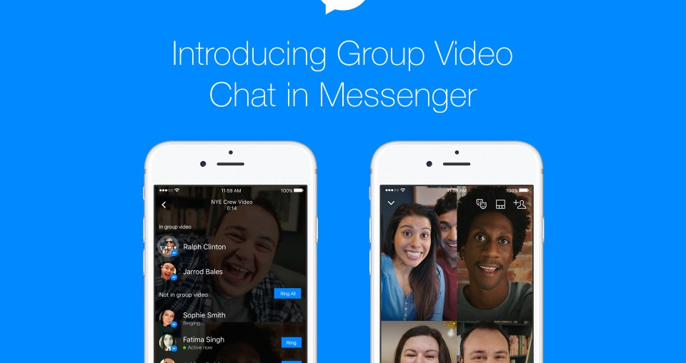 Facebook Messenger lance le chat vidéo en groupe