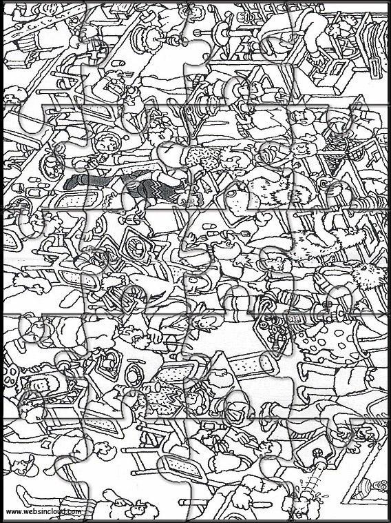 Where's Waldo Pictures Printable : where's, waldo, pictures, printable, Where's, Wally?, Printable, Puzzle