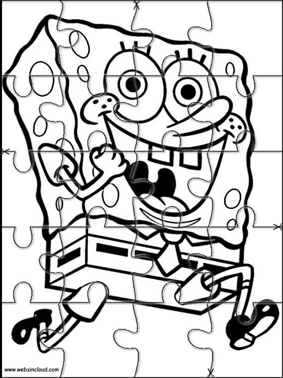 SpongeBob Puzzle to cut out 65