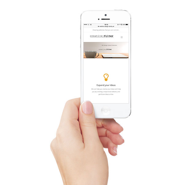 Mobile Friendly websites by Creative Filter in Derby