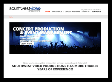 Southwest Video Productions Website
