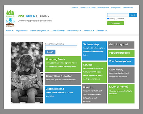 Pine River Library Homepage
