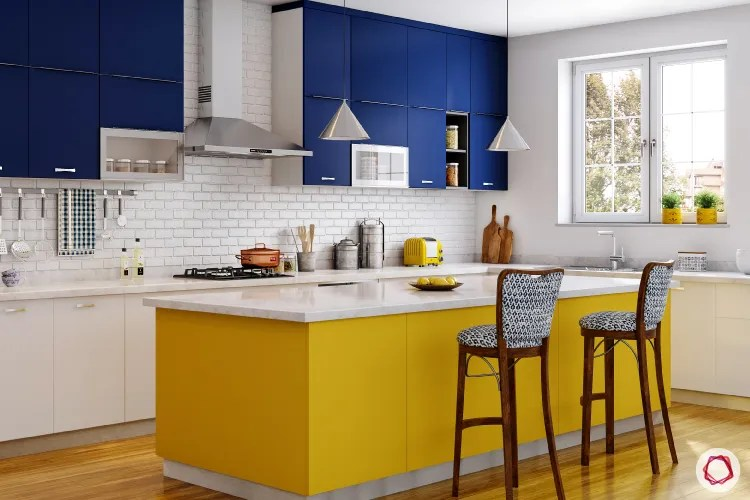 Kitchen Decor Yellow And Blue