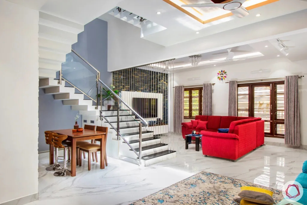 Check Out The Amazing House Interior Design For This 4Bhk   Duplex House Inside Steps   Living Room   Traditional   Duplex Stair Case   House Plan   1000 Sq Ft