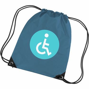 wheelchair emoji discontinued universal dining chairs print to clothes bags stickers fast dispatch free delivery symbol gym bag