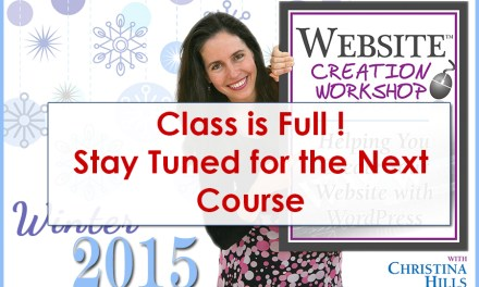 Winter 2015 Class is Now Full