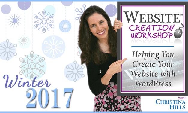 Website Creation Workshop Coming January 2017
