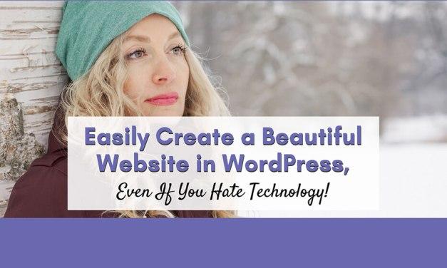 "Free Live Training: ""Easily Create a Beautiful Website in WordPress"""