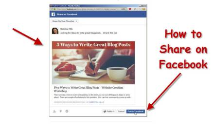 How to Share Your Website to Facebook