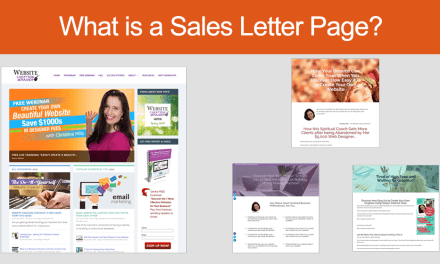 "What is a ""Sales Letter Page"" ?"
