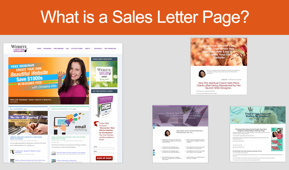 """What is a """"Sales Letter Page"""" ?"""