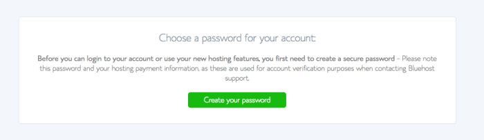 how to open a bluehost website hosting account - step 6