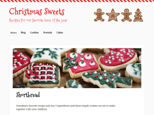 Christmas Sweets Theme to go with your holiday plugins