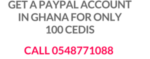 paypal account in Ghana