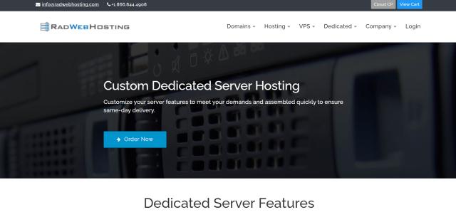 Rad Web Hosting Dedicated Servers
