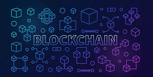 """Image with the word """"Blockchain"""""""