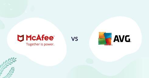 mcafee logo vs avg logo antivirus comparison header for how to choose article
