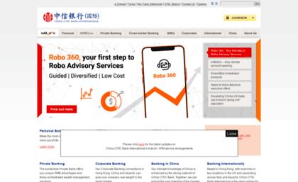China Citic Bank International Bank Code - sleek body method
