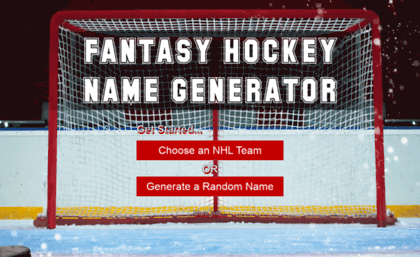 Fantasyhockey Sportsunlimitedinc Com Website Fantasy Hockey Name