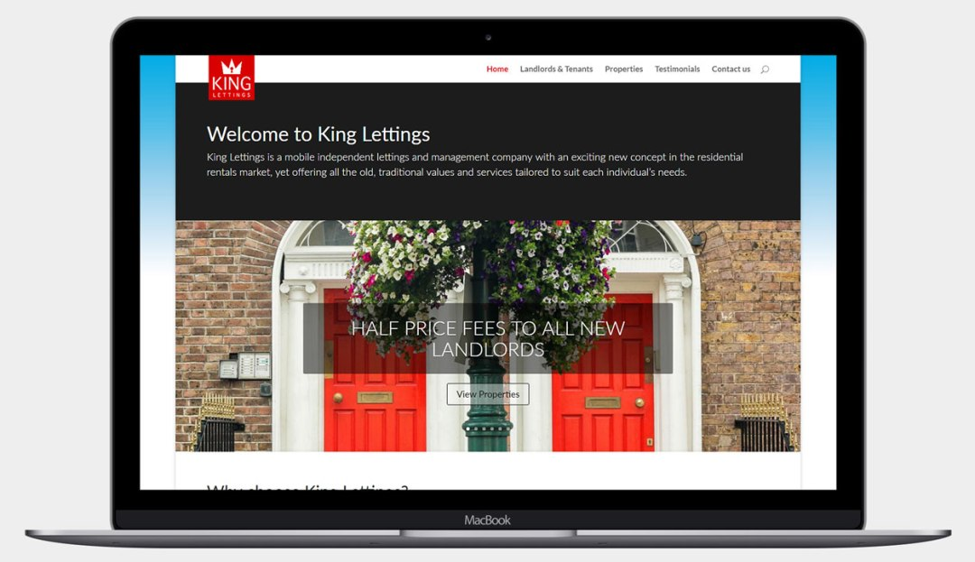 After King Lettings Website project