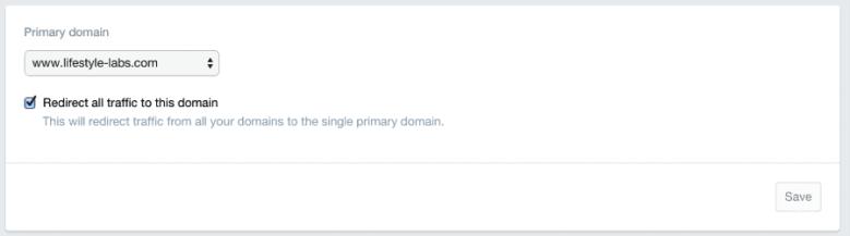 primary store domain