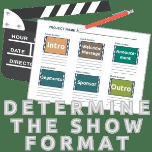 Determine podcast format