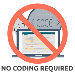 No coding required for creating a website