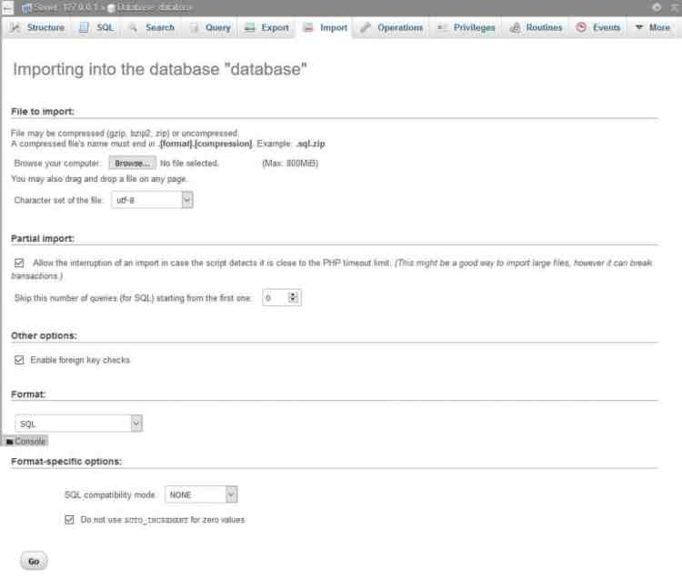 import database to switch web hosts
