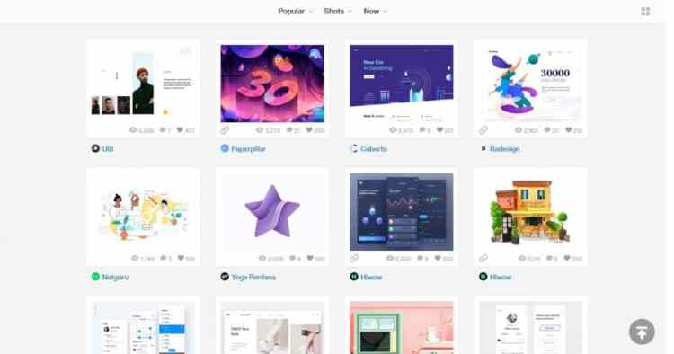 dribbble for website design ideas inspiration