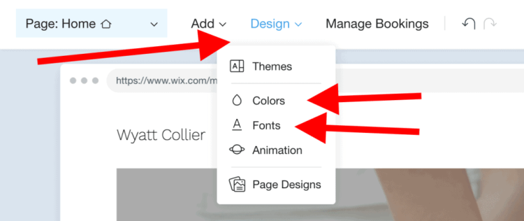 change colors fonts